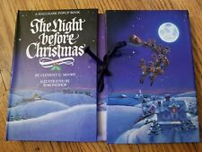 Hallmark THE NIGHT BEFORE CHRISTMAS Fold Out POP UP Book 1988 Clement C Moore
