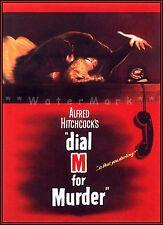 Dial M For Murder 1954 Classic Crime Drama Movie Vintage Poster Print Retro Art