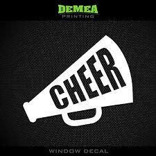 "Cheer - Cheerleading - Style3 - 5"" Vinyl Decal/Sticker - CHOOSE COLOR"