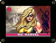 MARVEL DANGEROUS DIVAS 2011 CARD 8 MS. MARVEL SIGNED BY ARTIST FRANK CHO