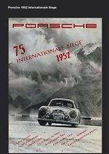 Porsche 1952 Internationale Siege 356 Race Licensed Reprint Car Poster:>)
