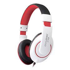 Ovleng X13 White Adjustable Headphones MP3 Stereo Over Ear Earphones DJ With Mic