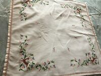 Beautiful Vintage Hand-Embroidered Tablecloth