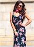 Womens  Cowl Neck Floral  Maxi Dress  John Zack