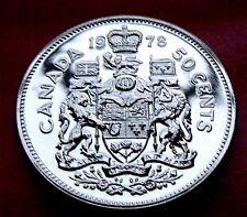 SCARCE PROOF LIKE  1978  CANADA 50 Cents, High Quality royal mint beauty!