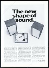 1967 KLH model 20 stereo system photo vintage print ad