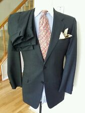 BESPOKE HICKEY FREEMAN  GRAY WINDOWPANE SZ 40L 36W 31L