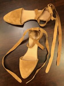J Jill Strappy Ankle Wrap Flats US 10