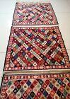 5.1 ft x 1.3 ft Persian Ardabil Handmade Vtg Kilim Wool 4 in 1 Uncut Runner Rug