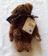 """1997 Boyds Bears Reagan Bearington Brown Jointed 9"""" Mohair Collectible Bear"""