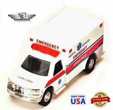 Showcasts Rescue Series Emergency Ambulance Diecast Truck White 5 Inch 1:40