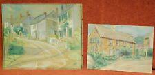 2 Vintage Arts Crafts Era Impressionist Elsie Edwards Painting Marblehead MA TWO