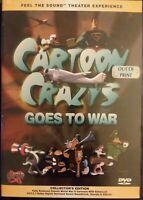 CARTOON CRAZIES GOES TO WAR DVD NTSC 1998 Winstar WW-II Animated Shorts VG fr/sh