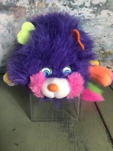 Rare Vintage Popples Puffling Popple Plush Toy - Mattel VGC Retro 1986 Purple (7
