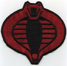 "GI Joe Cobra Commander Small 3"" Red & Black Fully Embroidered Iron-on Patch"