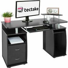 Bureau informatique table de L'ordinateur travail Mobilier Meubles PC Noir