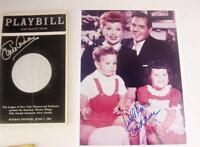 Playbill Orig Broadway Lucie Arnaz Signed Tony Awards 1981 + Photo, COA Lucille