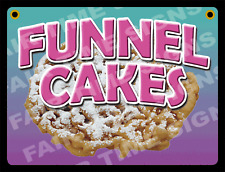 """FUNNEL CAKE SIGN - Concession Trailer, Stand, Cart 12"""" x 17"""" PVC"""