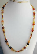 Red Agate Round Bead Necklace