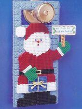 *Santa Stop Doorknob Hanger*Plastic Canvas Pattern*
