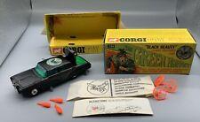 1966 CORGI GREEN HORNET BLACK BEAUTY CAR BOX MISSILES DIRECTIONS BRUCE LEE MIB