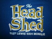 vtg 70s 80s HEAD SHED T SHIRT Toledo Ohio Shop Party Paraphernalia Rock N Roll S