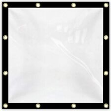 Clear Tarps 20 Mil Waterproof Tarpaulin - Perfect for Curtains, Greenhouse