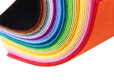 40pcs Felt 1mm Thick Craft Coloured Fabric 10x15cm craft sewing glued non woven