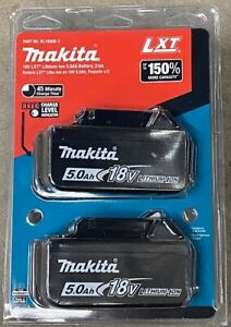 Makita BL1850B-2 18V LXT 5.0Ah Battery Pack of 2.