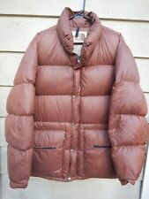 North Face Vintage Goose Down Jacket LARGE Brown Puffer Old-School