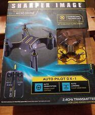 Sharper Image Auto Pilot DX-1 Micro Drone Black Rechargeable 2.4GHz Long Range