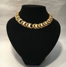 & Stardust Choker Style Necklace Stunning Luxury - Heavyweight Goldtone 'Creole'