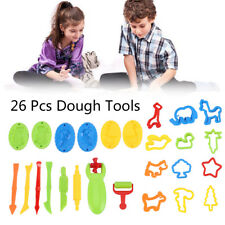 26pcs Dough Tools Play Set Modelling Doh Clay Craft Rolling Pins Cookie Cutters