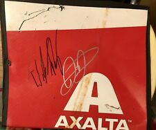 Dale Earnhardt Jr & William Byron signed Autograph race used Axalta metal JSA
