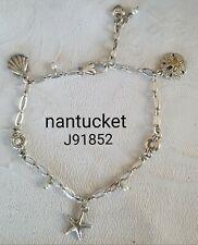 Brighton Nantucket nautical shell starfish anklet ankle bracelet J91852 B132