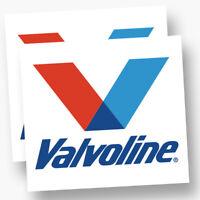 2x VALVOLINE Decals Stickers Vinyl Logo Racing Nascar Vintage Oil Motor Drag