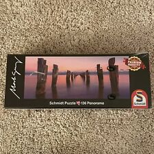 New SEALED Schmidt Panoramic 136 Piece Puzzle CLIFTON SPRINGS MARK GREY PHOTO