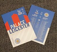 Crystal Palace v Leicester City PREMIER LEAGUE PROGRAMME 28/12/20 IMMEDIATE POST