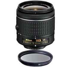 Nikon 18-55mm f/3.5-5.6G VR AF-P DX Nikkor Lens + UV Filter for D3400 D5300 D550
