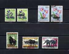 Belgisch Congo Belge Rep. Congo Kinshasa 7 used stamps Error - Shifted Overprint