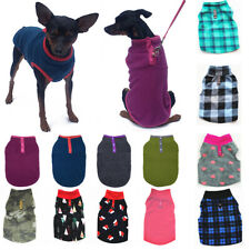 Pet Dog Cat Warm Fleece Vest Clothes Coat Puppy T Shirt Sweater Winter Apparel A
