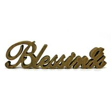 """Vintage Distressed Wooden Words Sign """"Blessings"""" Tabletop/Home Wall/Office Decor"""