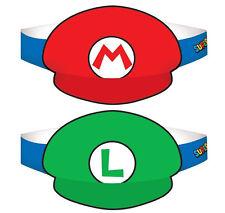 Super Mario Brothers Mario & Luigi Party Hats-Birthday Decoration Favor Supplies