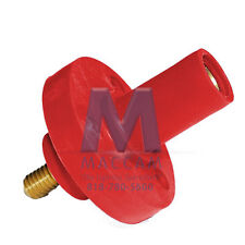 Threaded Stud Panel Mount Receptacle #8-#4, Red, Female – E-1015-1627