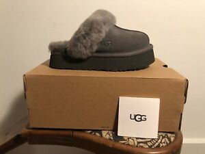 UGG Disquette Charcoal Suede Clog Style 1122550 Women's US Sizes 5-11 NEW!!!