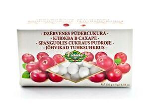 """Cranberry Sugar Powder """" Vladas"""" Latvia Dzērvenes Pūdercukurā Клюква 130g"""