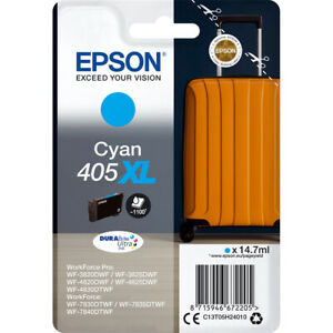 Genuine Epson 405 Standard Capacity Cyan Ink Cartridge T05G2 for Epson Printers