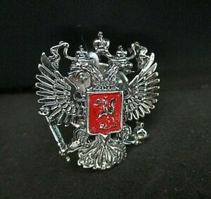 Badge on the lapel silver 925 Double eagle Russia # 930577