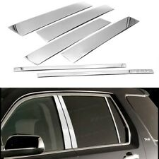 For 2010-2017 GMC Terrain Stainless Steel Chrome Window Door Pillar Post Trims