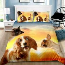 Funny Animals Quilt Cover Set Pillowcase Single Double Queen King Size Bedding